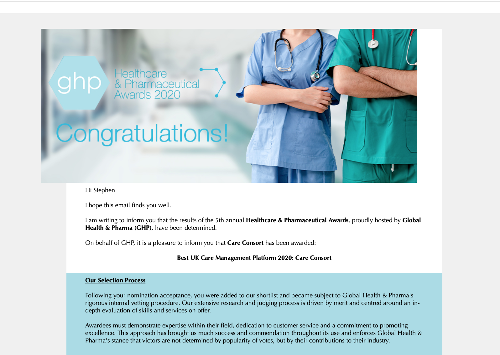 Oops We Did It Again….Care Consort – Winners 2020